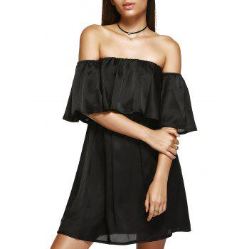 Off The Shoulder Ruffle Mini Dress