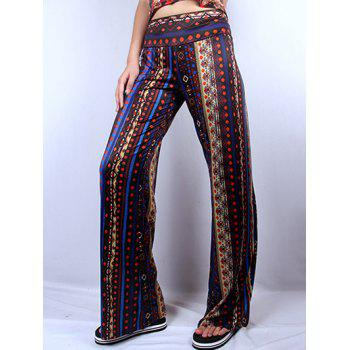 Wide Leg Ethic Print Pants