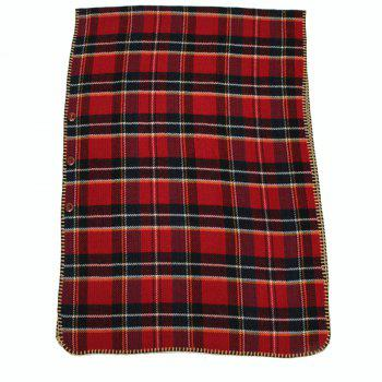 Fashion Women's Buttons Plaid Hooded Batwing Blanket Shawl Poncho Cape Scarf - RED ONE SIZE(FIT SIZE L TO 3XL)