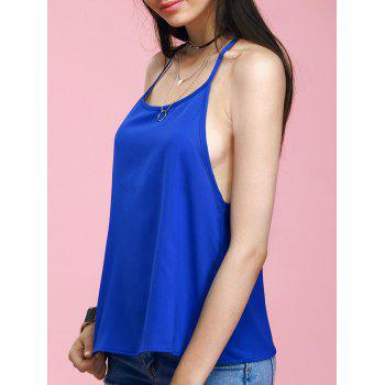 Fashionable Scalloped Solid Color Women's Tank Top