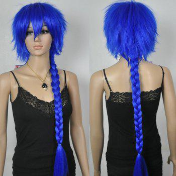 Chic Pig Tails Long Straight Braid Blue Cosplay Synthetic Wig