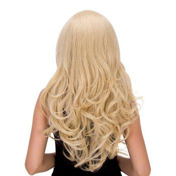 Sparkling Women's Long Wavy Platinum Synthetic Hair Wig -  PLATINUM