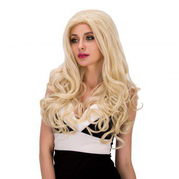 Sparkling Women's Long Wavy Light Blonde Synthetic Hair Wig
