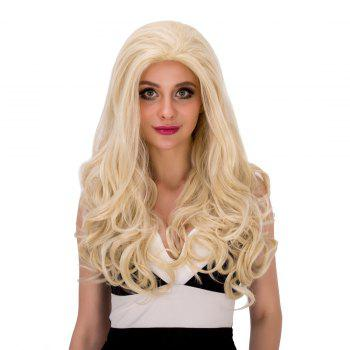 Sparkling Women's Long Wavy Light Blonde Synthetic Hair Wig -  LIGHT GOLD