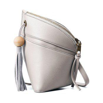 Stylish Tassel and Asymmetrical Design Women's Crossbody Bag
