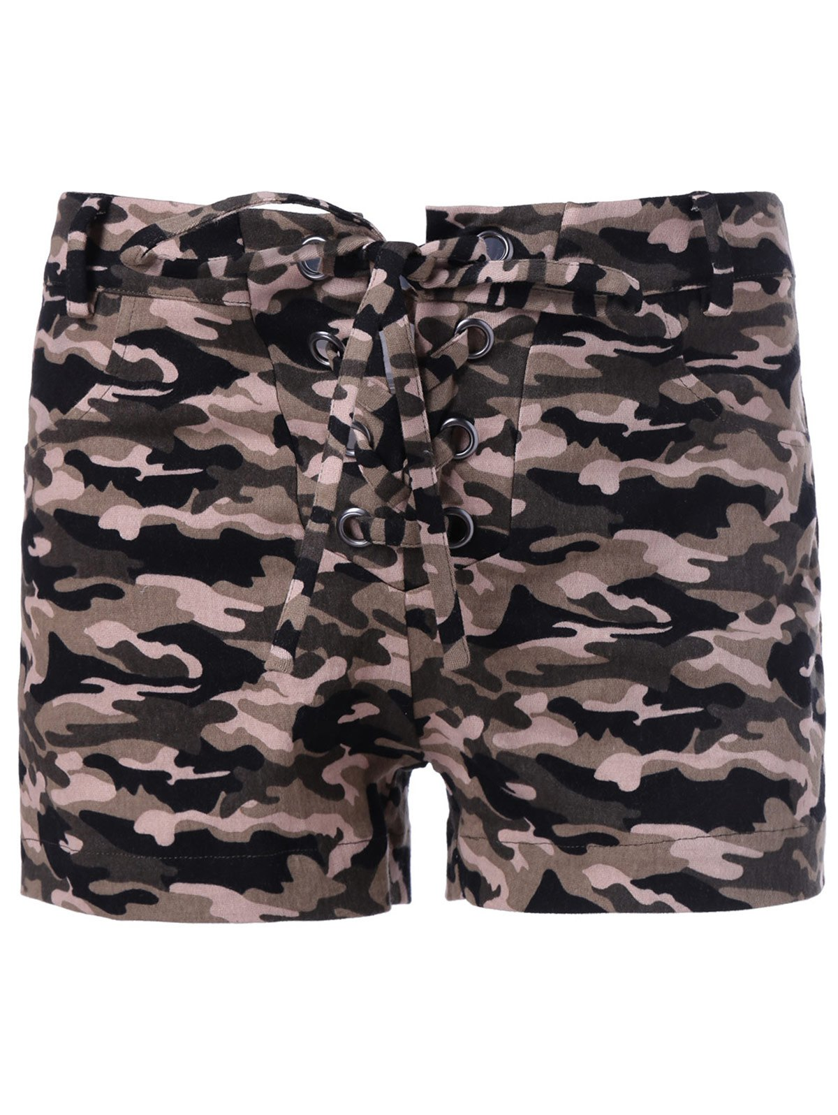 Trendy Camouflage Print Shorts For WomenWomen<br><br><br>Size: L<br>Color: CAMOUFLAGE