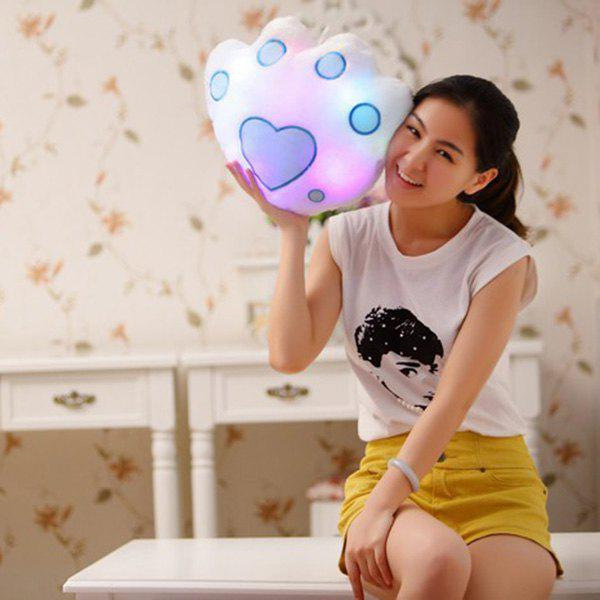 Hot Sale Bear's Pow Shape Valentine's Day Gift Luminous Pillow