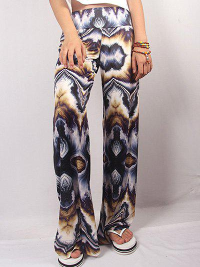 Dip Dye Illusion Print Wide Leg Pants - COLORMIX 2XL