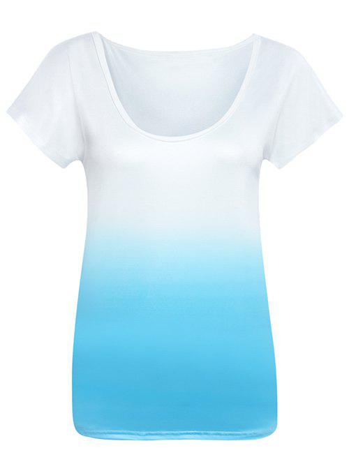Sea Breath Gradient Tee - BLUE/WHITE XL