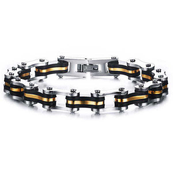 Simple Silicone Bicycle Chain Bracelet For Men