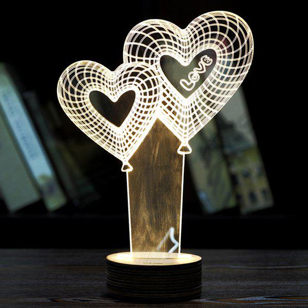 Novelty Home Decoration Heart Balloon Design LED Night Light 2 pcs fine squirrel hair short wooden handle high quality watercolor art paint brush 20rq 7
