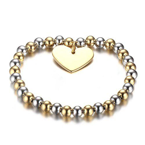Heart Alloy Bead Bracelet - COLORMIX