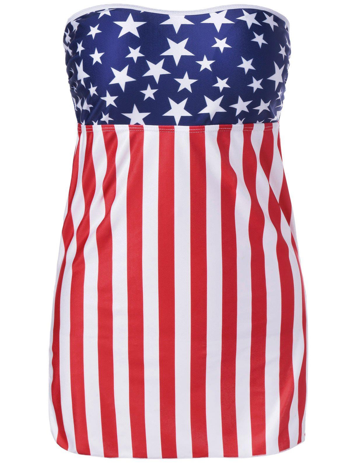 Trendy Bandeau Cover Up For Women - COLORMIX M
