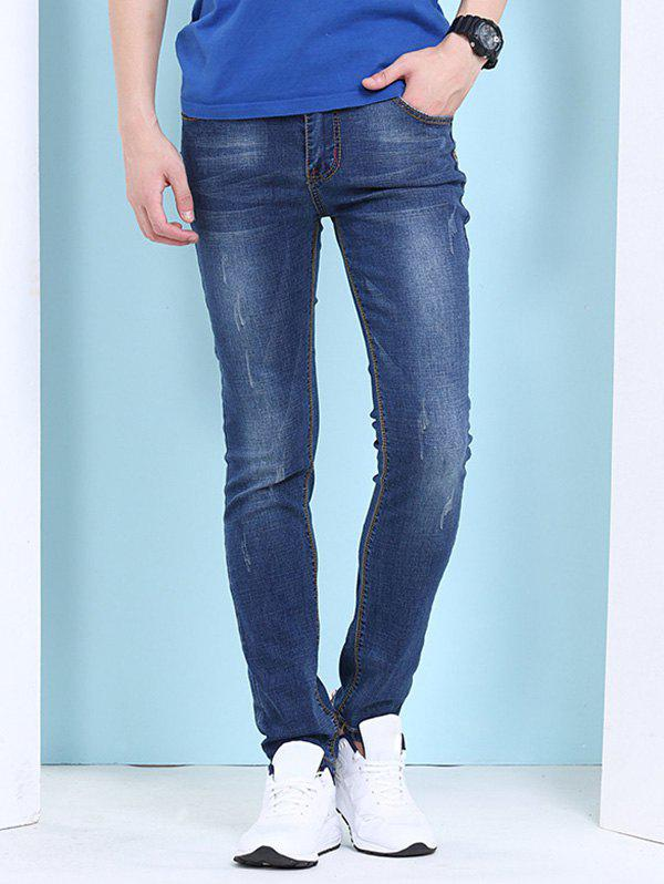 Men's Cat's Whisker Printed Zipper Fly Jeans