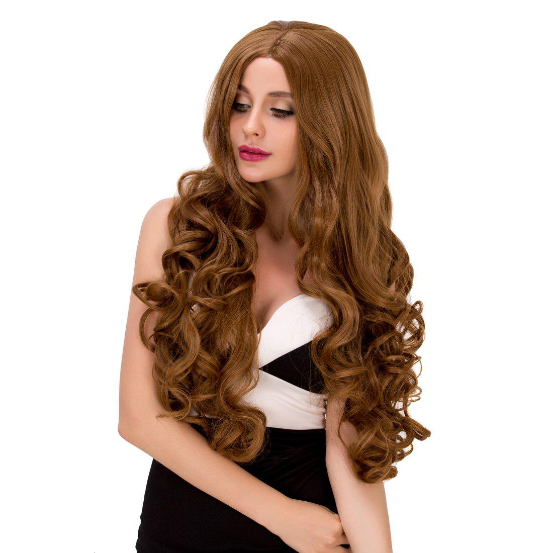 Gorgeous Women's Long Wavy Middle Part Dark Ash Blonde Synthetic Hair Wig