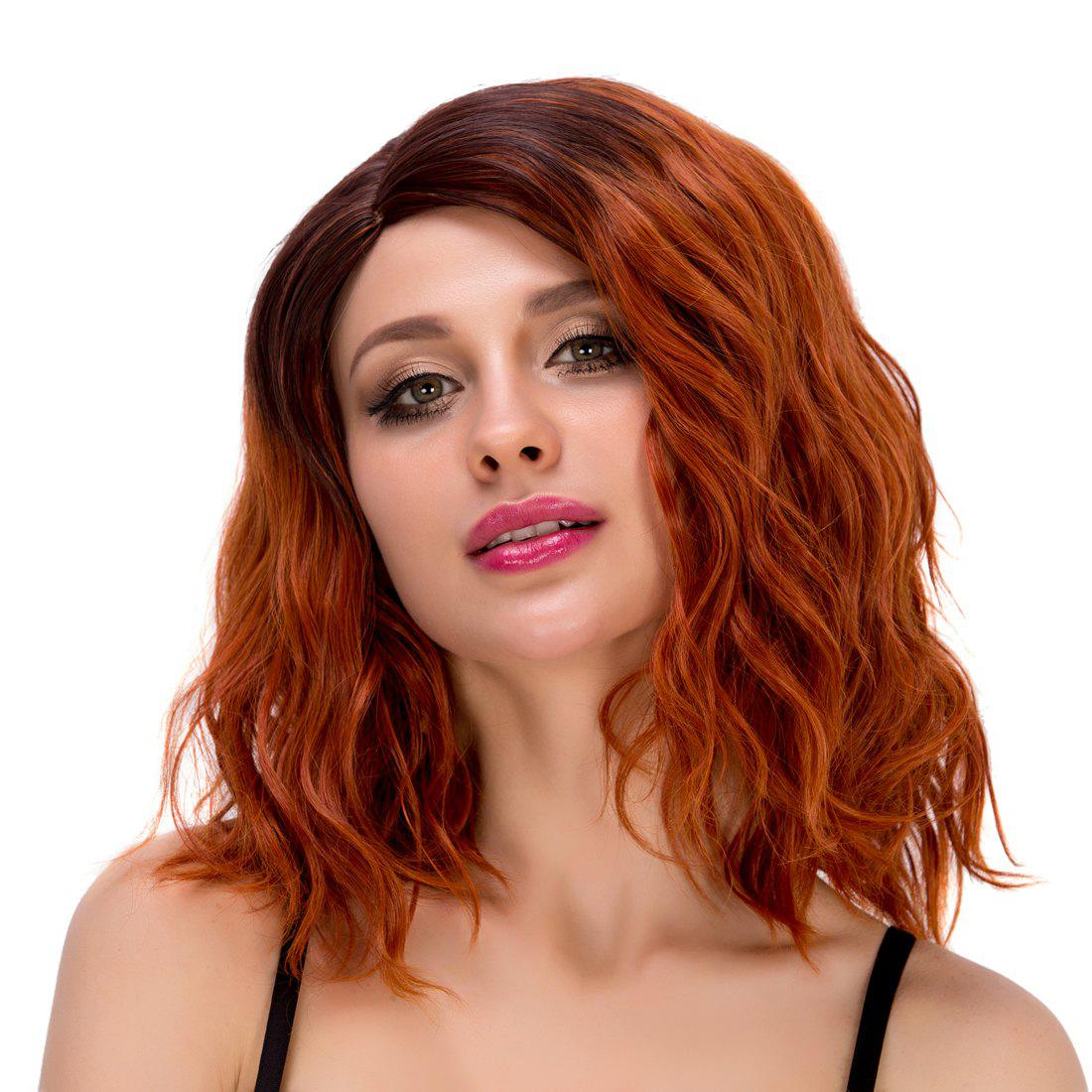 Stunning Women's Medium Wavy Side Parting Omber Color Synthetic Hair Wig - COLORMIX