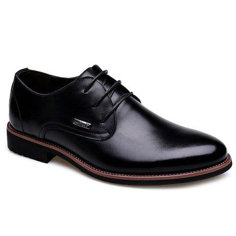 Fashion Pointed Toe and Lace-Up Design Men's Formal Shoes - BLACK 44