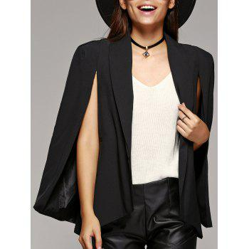 Shawl Collar Split Long Sleeve Cape Blazer