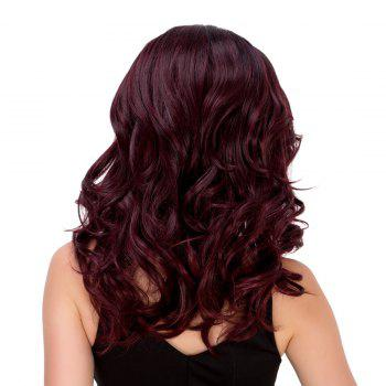 Exquisite Women's Medium Wavy Side Parting Omber Color Synthetic Hair Wig -  COLORMIX