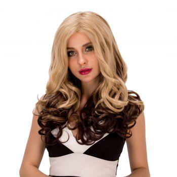 Exquisite Women's Long Wavy Side Parting Omber Color Synthetic Hair Wig -  COLORMIX