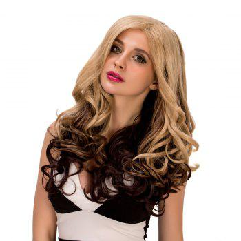 Exquisite Women's Long Wavy Side Parting Omber Color Synthetic Hair Wig - COLORMIX COLORMIX