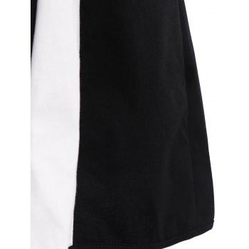 Women's Round Neck Color Block Voile Splicing Sleeveless Dress - BLACK BLACK