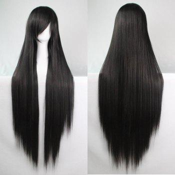 Long Glossy Straight Side Bang Harajuku Anime Synthetic Cosplay Wig