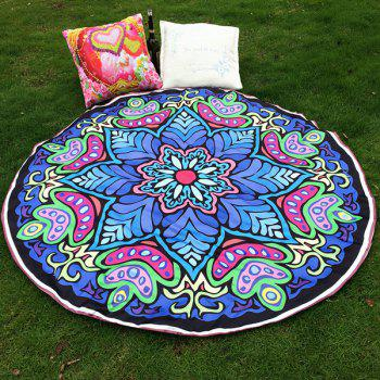 Ethnic Style Bikini Swimwear Eight-Square Flower Tablecloth Satin Round Beach Throw Scarf