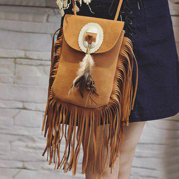 Stylish Magnetic Closure and Feather Design Women's Crossbody Bag