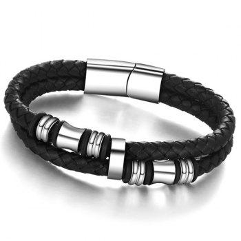 Faux Leather Woven Rope Bracelet