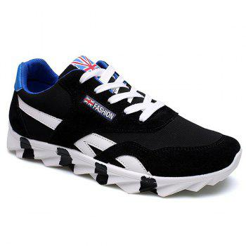 Trendy Color Block and Lace-Up Design Men's Athletic Shoes