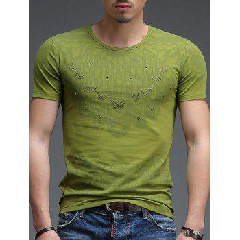 Men's Hot Sale Round Neck Abstract Pattern Short Sleeves T-Shirt