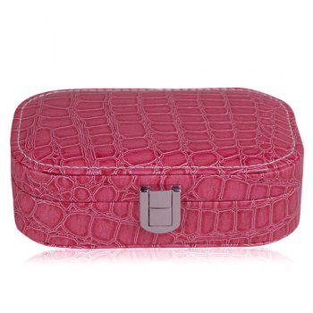 Trendy Stone Print and Hasp Design Women's Cosmetic Bag - ROSE MADDER ROSE MADDER