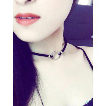 Velvet Circle Chokers Necklace