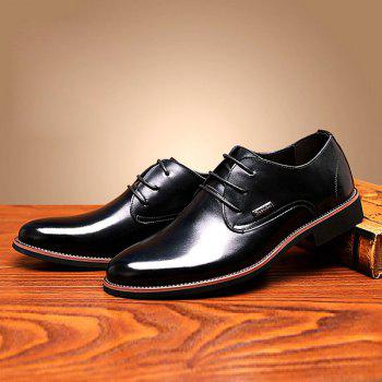 Fashion Pointed Toe and Lace-Up Design Men's Formal Shoes - BLACK 43