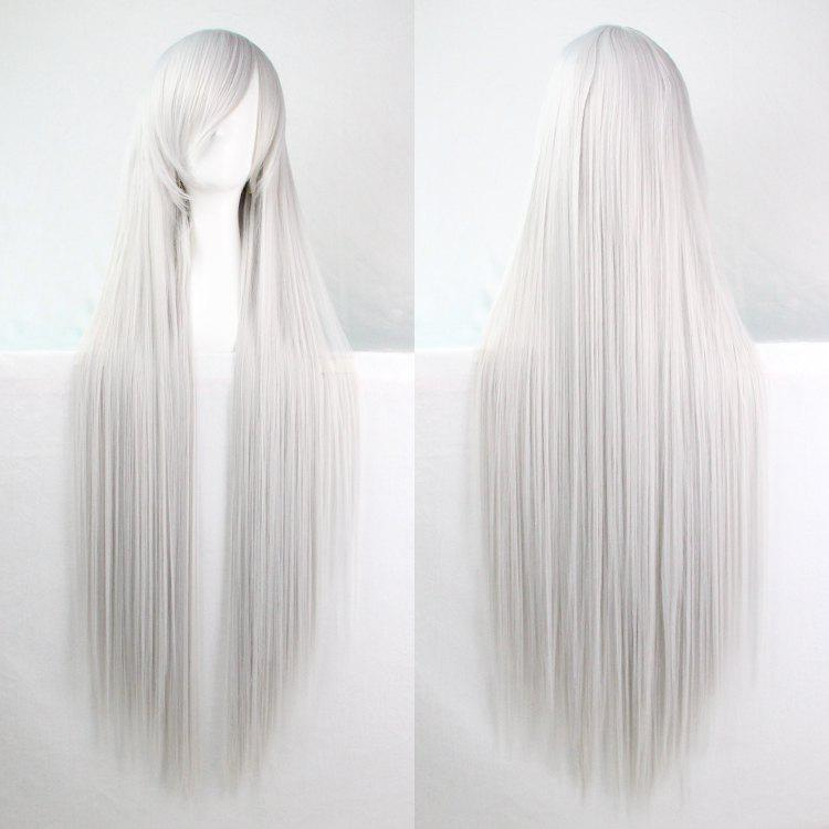 Long Glossy Straight Side Bang Harajuku Anime Synthetic Cosplay Wig new arrival 150cm black straight long synthetic hair cosplay anime wig
