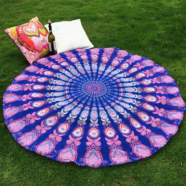 Ethnic Style Bikini Boho Swimwear Mandala Totem Soft Grass Cover Mat Satin Round Beach Throw ScarfAccessories<br><br><br>Color: PINK