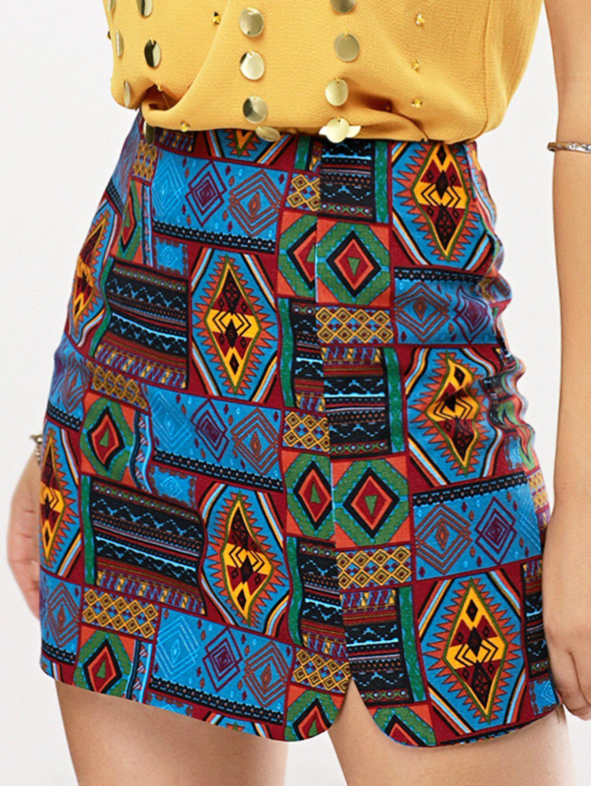 Africa Tribe Print Skirt - COLORMIX ONE SIZE(FIT SIZE XS TO M)