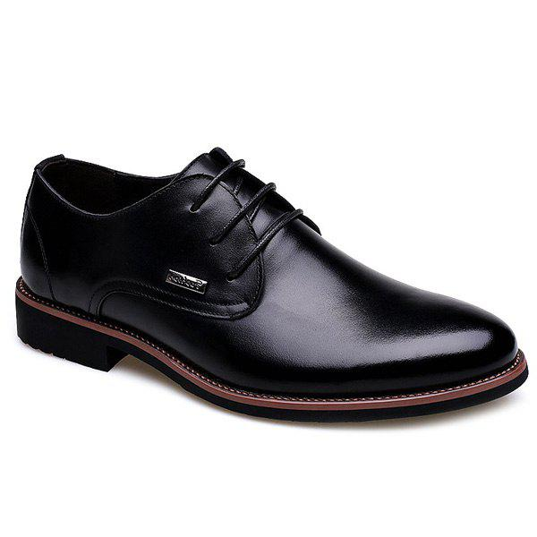 Fashion Pointed Toe and Lace-Up Design Men's Formal Shoes new arrival men casual business wedding formal dress genuine leather shoes pointed toe lace up derby shoe gentleman zapatos male