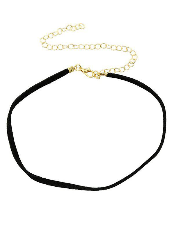 Velvet Adjustable Chokers Necklace - BLACK