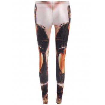 Street Style Swordsman Print Slimming Leggings For Women - COLORMIX ONE SIZE(FIT SIZE XS TO M)