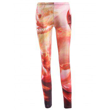 Trendy Slimming Dragon Print Leggings For Women