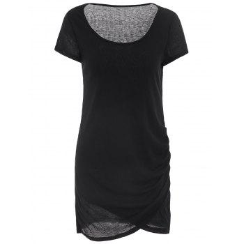 Casual Short Sleeve U Neck Solid Color Women's Slimming Dress