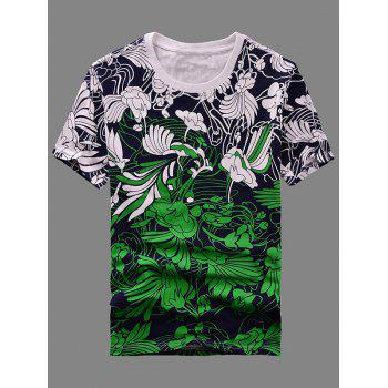 Men's Hot Sale Round Neck Abstract Printing Short Sleeves T-Shirt