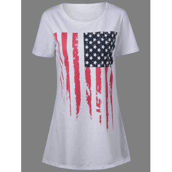 American Flag Patriotic T Shirt Dress