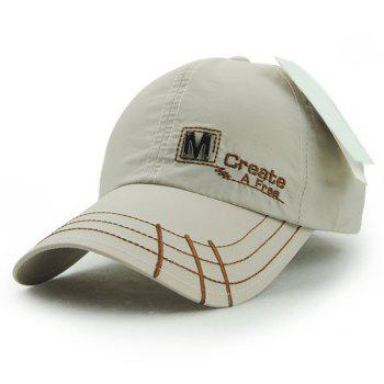 Fashion Letter M and Embroidery Decorated Quick Dry Men's Outdoor Baseball Hat
