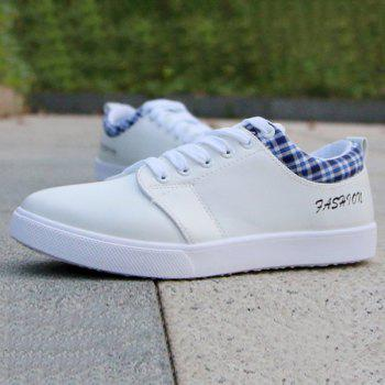 Trendy Letter and Lace-Up Design Men's Athletic Shoes - 42 42