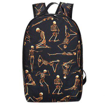 Stylish Zippers and Skeleton Pattern Design Women's Backpack