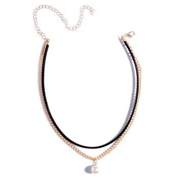 Layered Faux Pearl Chokers Necklace