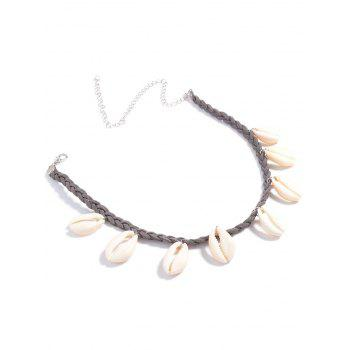 Braid Shell Chokers Necklace - GRAY